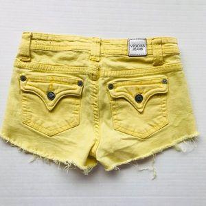 Jrs yellow shorts